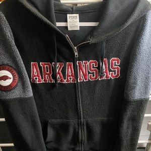 VS Pink Arkansas Razorback Fleece Jacket